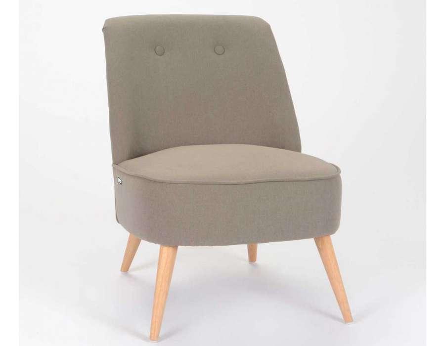Fauteuil Chambre Taupe Gawwalcom - Petit fauteuil moderne