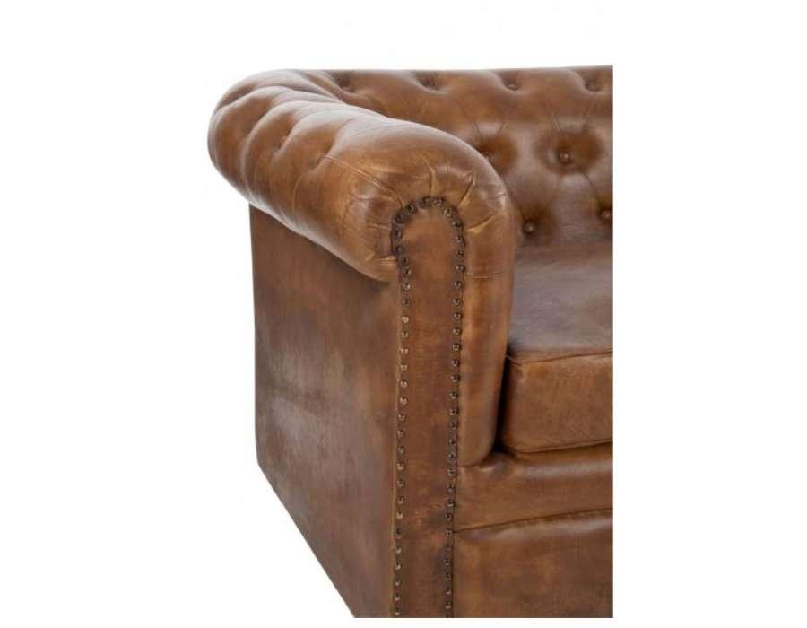 Canap vintage cuir anglais forme chesterfield - Chaise chesterfield cuir ...