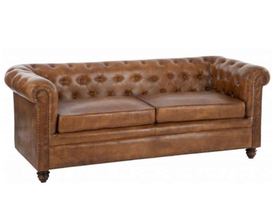Canap vintage cuir anglais forme chesterfield for Chesterfield canape