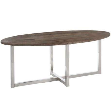 table ovale moderne bois et acier - Grande Table Ovale