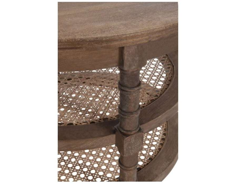 Table basse ronde en bois c rus jolipa - Table basse bois blanc ceruse ...