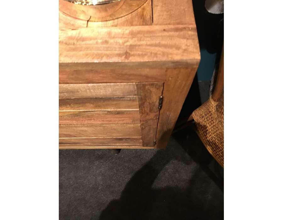 Buffet bois massif manguier avec 2 portes - Buffet bois contemporain ...