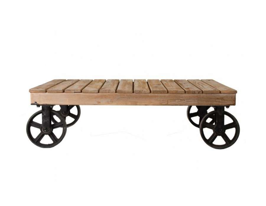 Table basse roulettes indus Vical Home