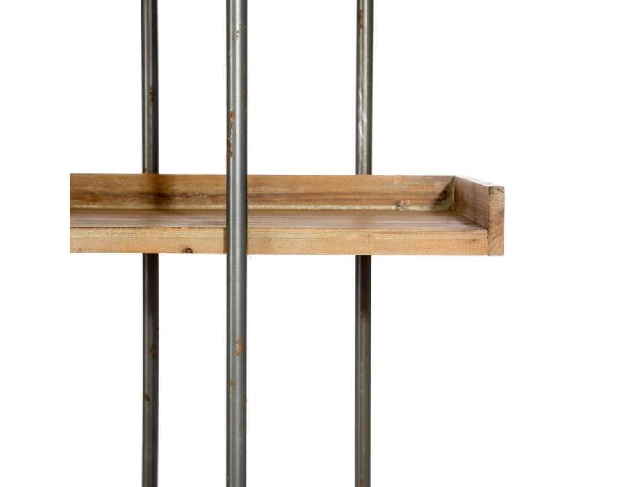 étag u00e8re basse bois naturel et métal industrielle pas chere # Étagère Basse Bois