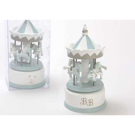 Caroussel musical bébé bleu