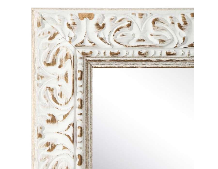 Grand miroir poser ancien blanc c rus - Grand miroir a poser par terre ...