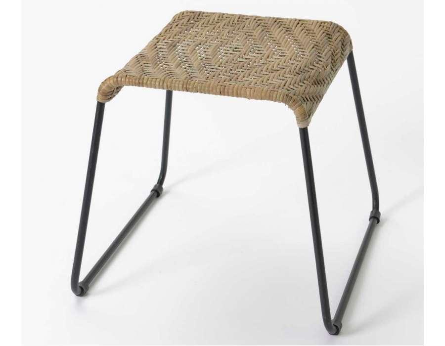 bout de canap rotin et m tal pas cher. Black Bedroom Furniture Sets. Home Design Ideas