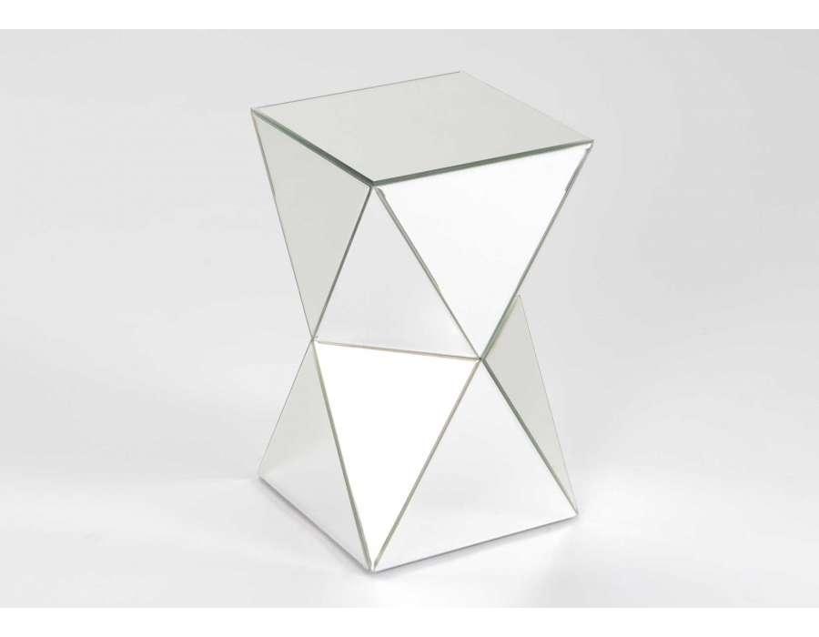 Bout de canap miroir forme design for Miroir moderne pas cher
