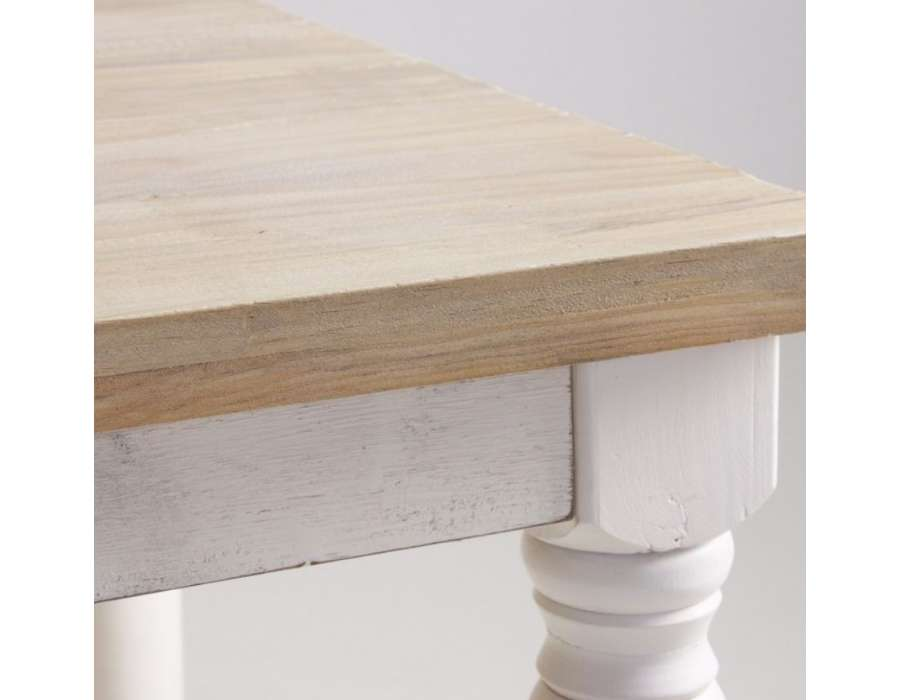 Table blanche cuisine table cuisine blanche laquee for Table cuisine blanche