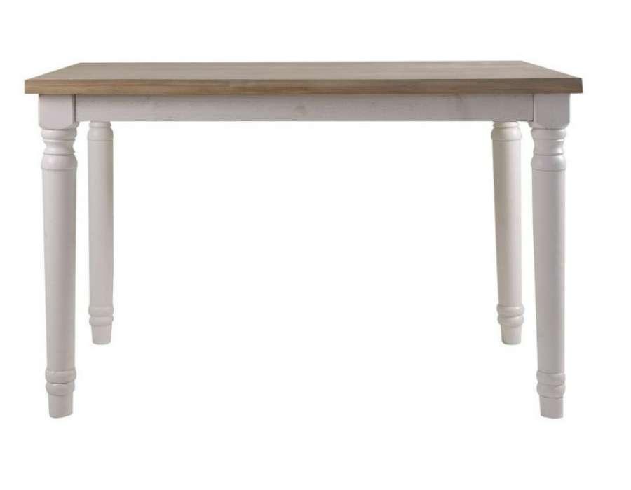 Table blanche et bois une table blanche et bois le for Table de cuisine blanche