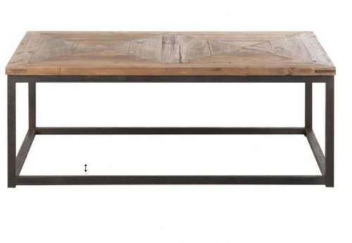 Table basse contemporaine mix métal bois