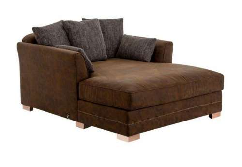 Fauteuil de salon long marron