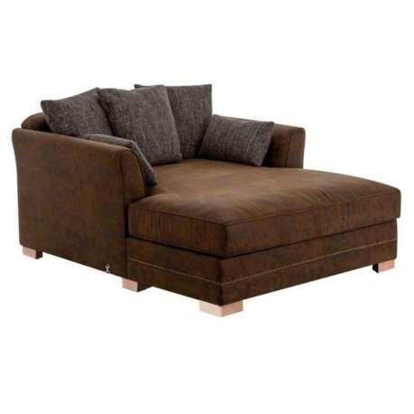 grand fauteuil marron allong vintage. Black Bedroom Furniture Sets. Home Design Ideas