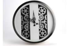Horloge mécanisme blanche