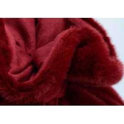 Plaid fourrure rouge
