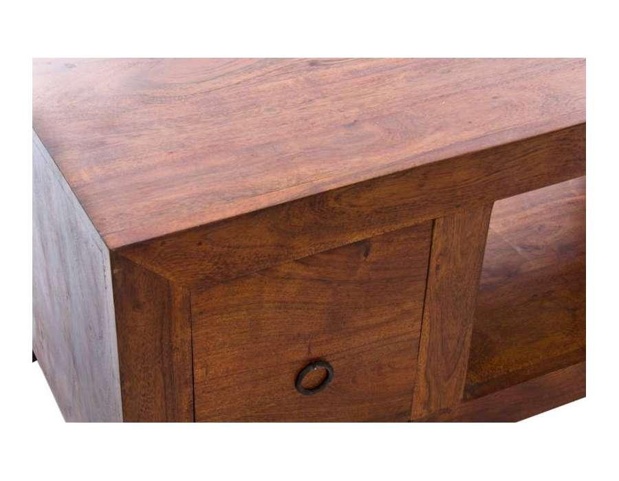 meuble t l bois massif 120 cm pas cher. Black Bedroom Furniture Sets. Home Design Ideas