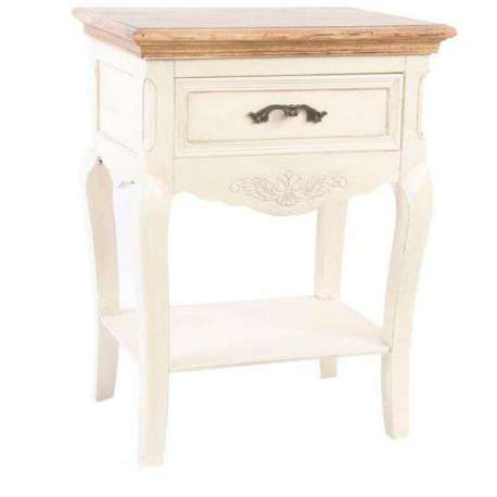 table de nuit romantique 1 tiroir laurie