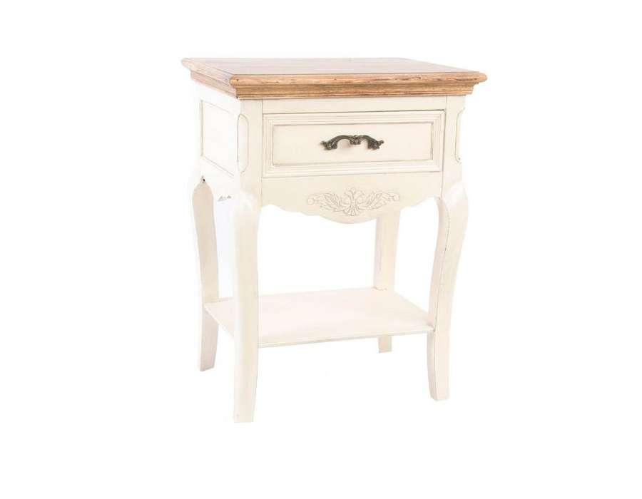 table de nuit romantique avec une gravure l gante