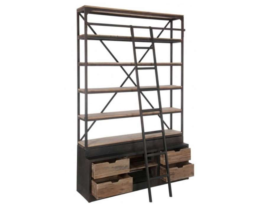 etagere industrielle tag re industrielle jp2b d coration. Black Bedroom Furniture Sets. Home Design Ideas
