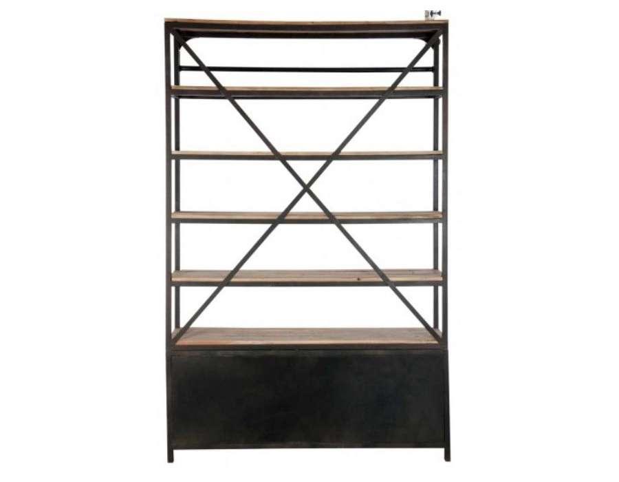 biblioth que industrielle pas chere jolipa. Black Bedroom Furniture Sets. Home Design Ideas