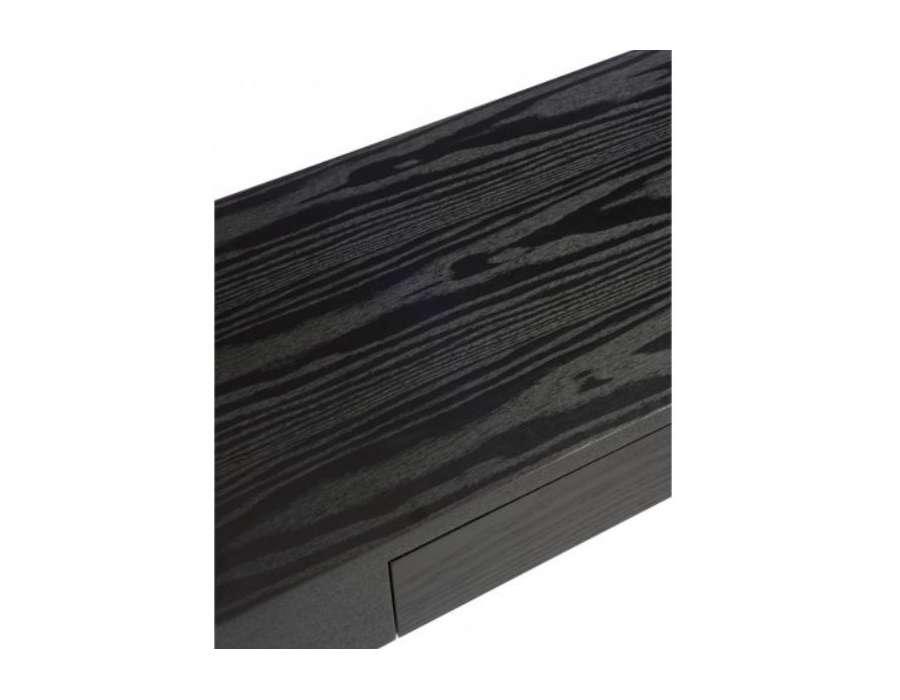 Meuble console bois noir épuré