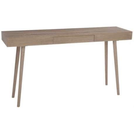 Meuble console bois naturel épuré