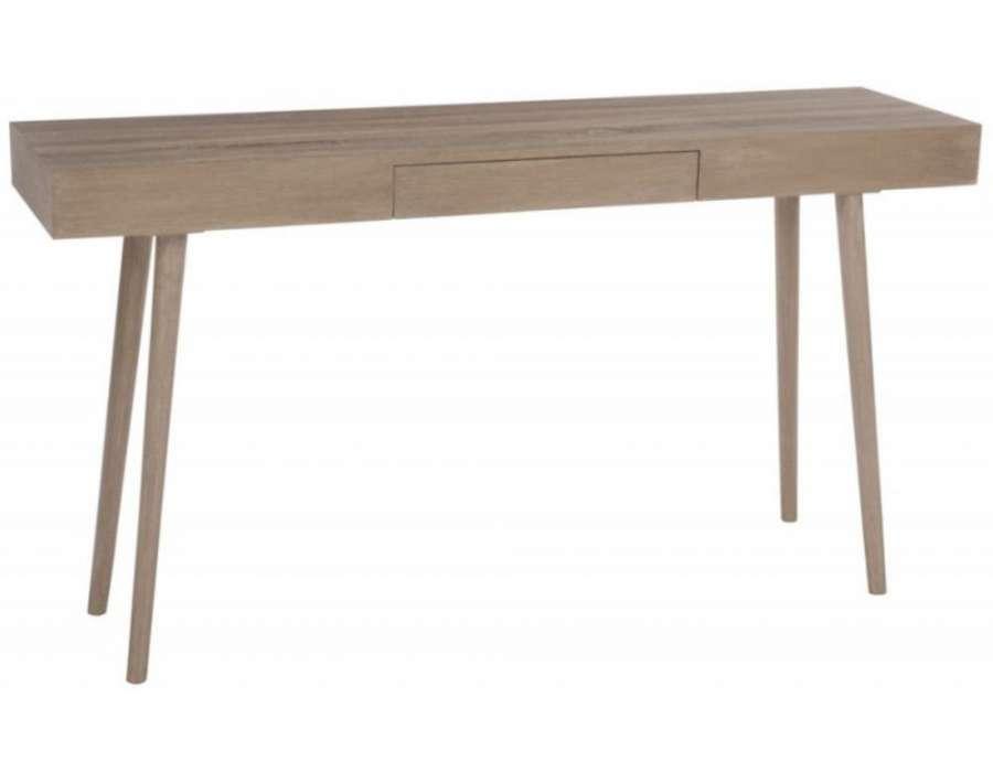 Console bois naturel scandinave pur e pas chere jolipa for Console meuble bois