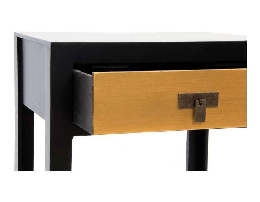 table de nuit noire et jaune dor japonaise pas chere. Black Bedroom Furniture Sets. Home Design Ideas
