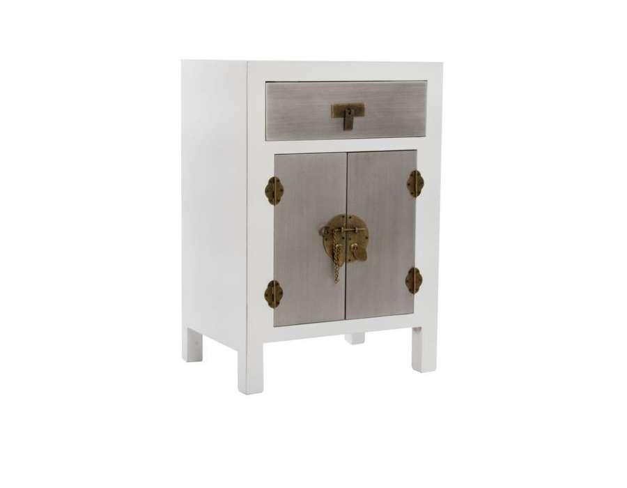 chevet japonais blanc et argent pas cher. Black Bedroom Furniture Sets. Home Design Ideas