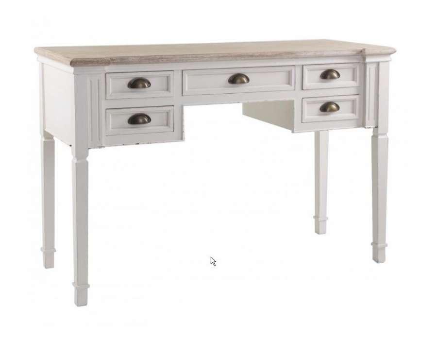 buffets meubles et rangements temahome prado bureau bureau blanc avec tiroir. Black Bedroom Furniture Sets. Home Design Ideas