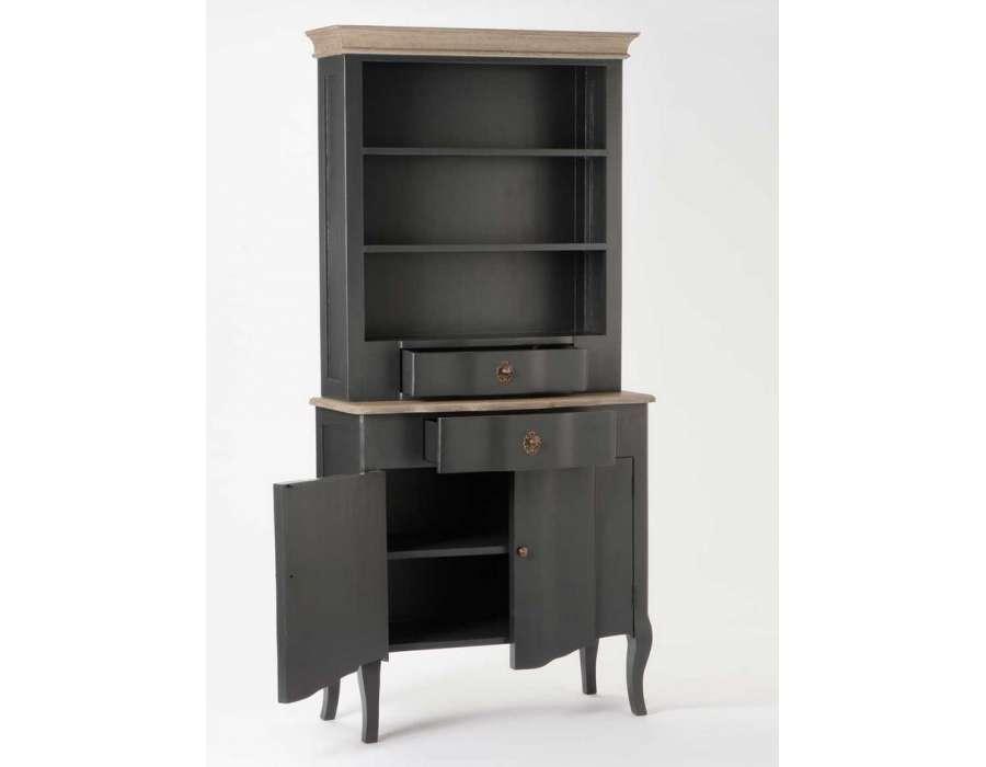 vaisselier gris et bois c rus chic amadeus. Black Bedroom Furniture Sets. Home Design Ideas