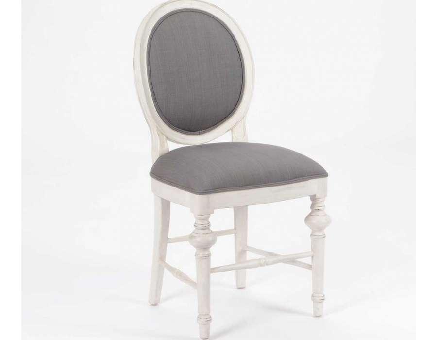Chaise m daillon gris blanchi amadeus pas chere for Chaise grise bois