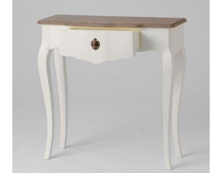 console 80 cm cr me patin e romantique amadeus. Black Bedroom Furniture Sets. Home Design Ideas