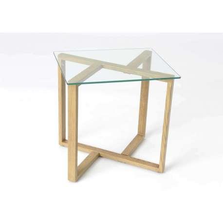 bout de canap verre et bois pur amadeus. Black Bedroom Furniture Sets. Home Design Ideas