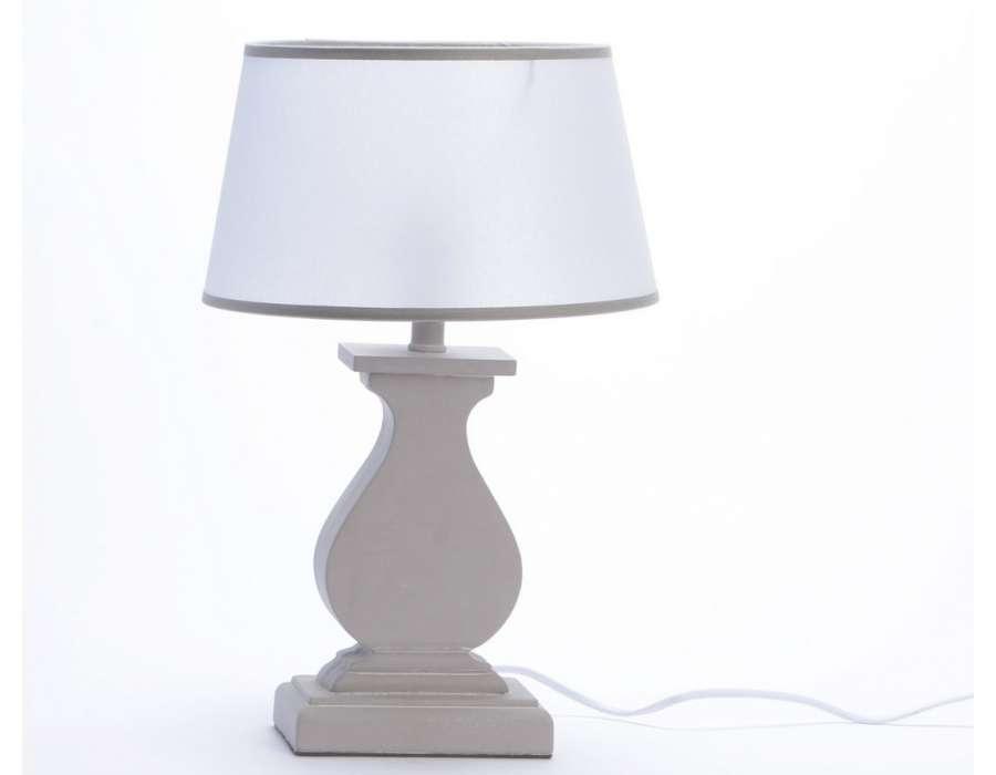 Lampe grise pied balustre marque amadeus - Lampe de salon a poser ...