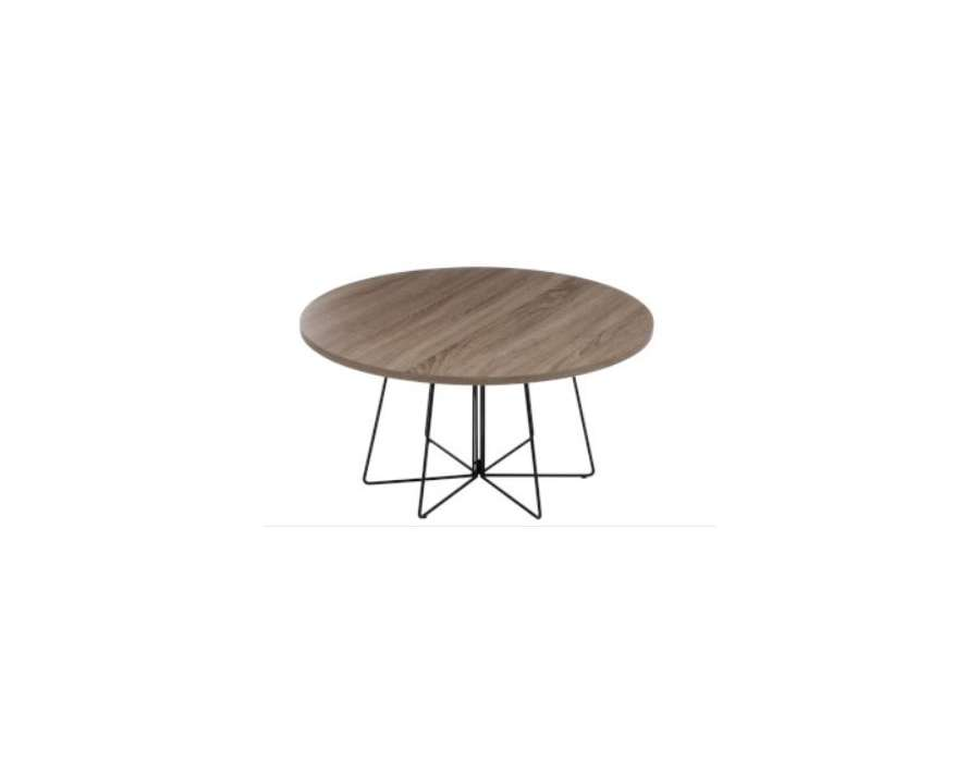 Table salon ronde design scandinave