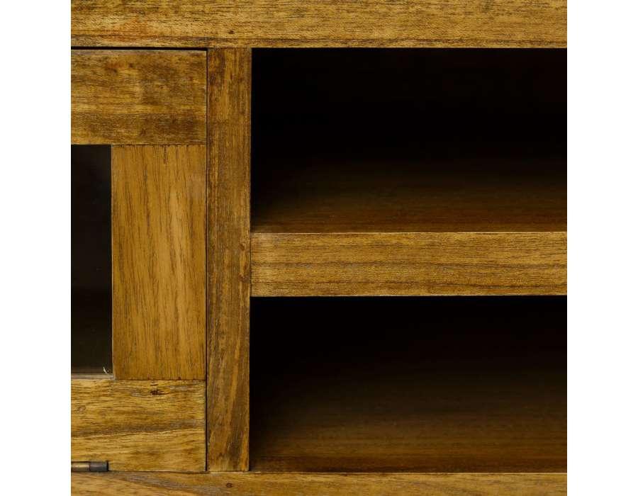 Meuble t l bois massif 160 cm pas cher - Meuble salon bois massif ...