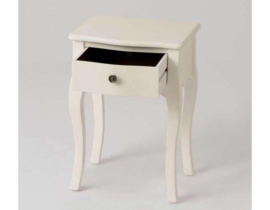 Petite table de nuit romantique blanche pas chere amadeus for Table de nuit romantique