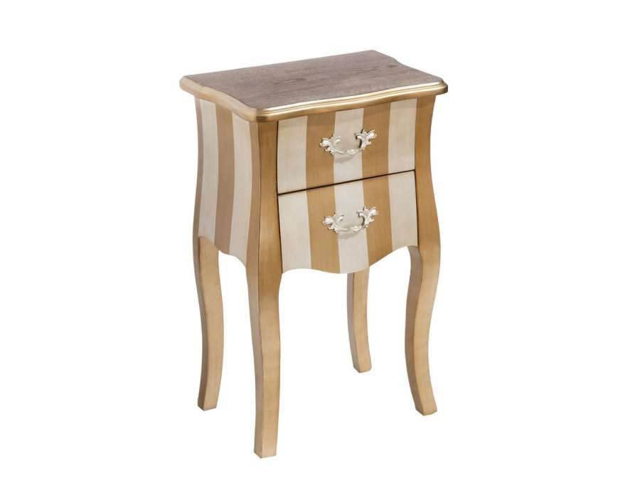 Chevet baroque dor e pas chere galb e - Table chevet baroque ...