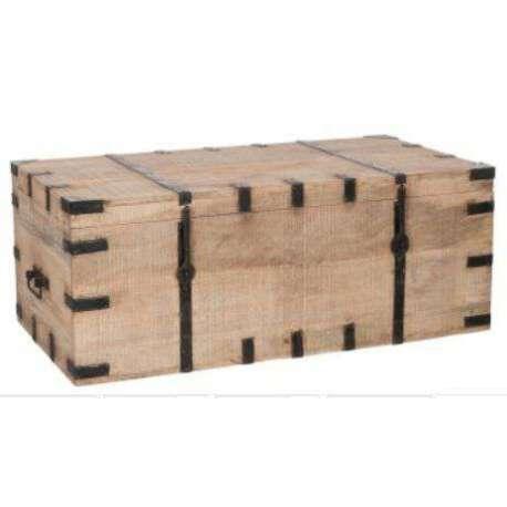 grand coffre en bois 1m robuste ancien. Black Bedroom Furniture Sets. Home Design Ideas