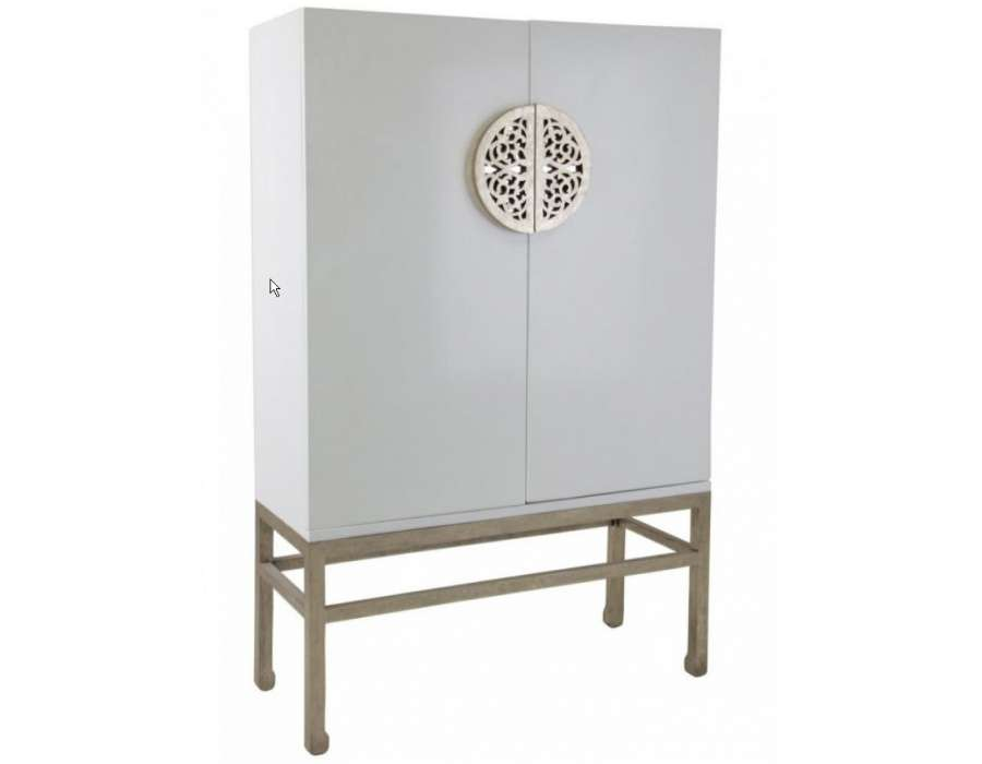 Armoire design chinois blanc large