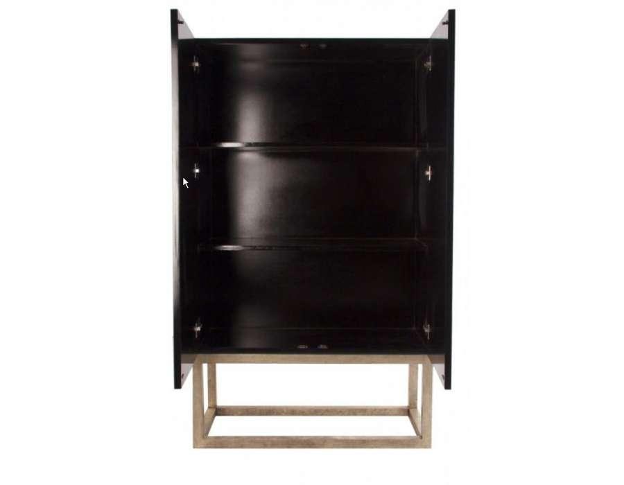 Armoire design bois noire orientale vical home for Grande armoire noire