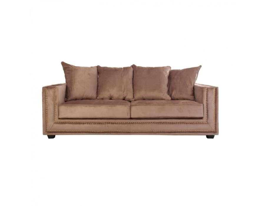 Canapé velours beige moderne