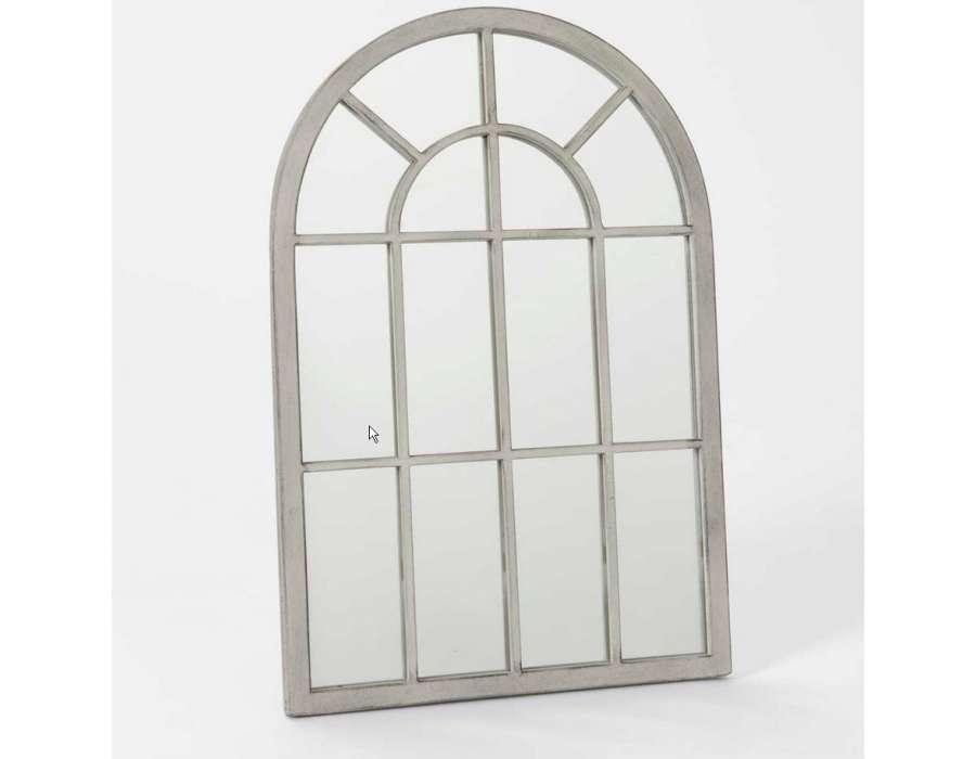 miroir quadrill gris patin 60 cm amadeus