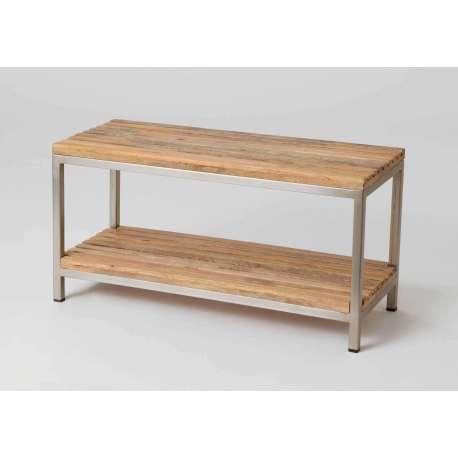banc en bois et m tal pour l 39 entr e amadeus. Black Bedroom Furniture Sets. Home Design Ideas