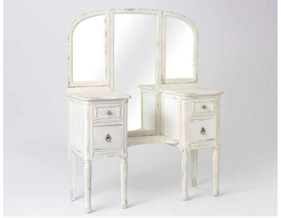 meubles chambre blanc romantique 211934 la. Black Bedroom Furniture Sets. Home Design Ideas