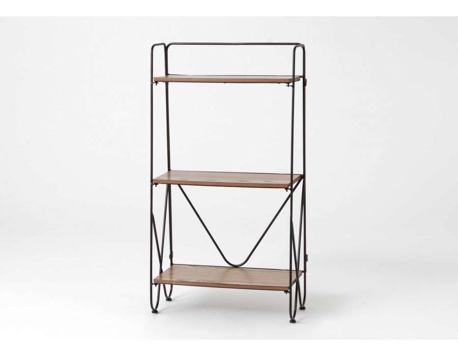 etagere bois metal achat vente etagere bois metal pas. Black Bedroom Furniture Sets. Home Design Ideas