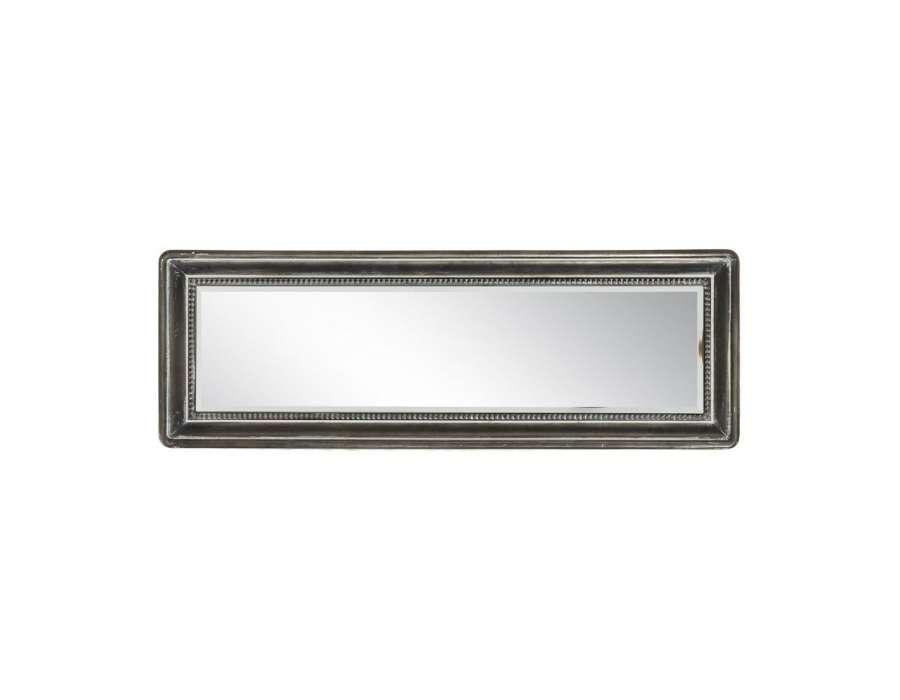 Miroir m tal gris vieilli industriel 91 cm pas cher for Miroir metal pas cher