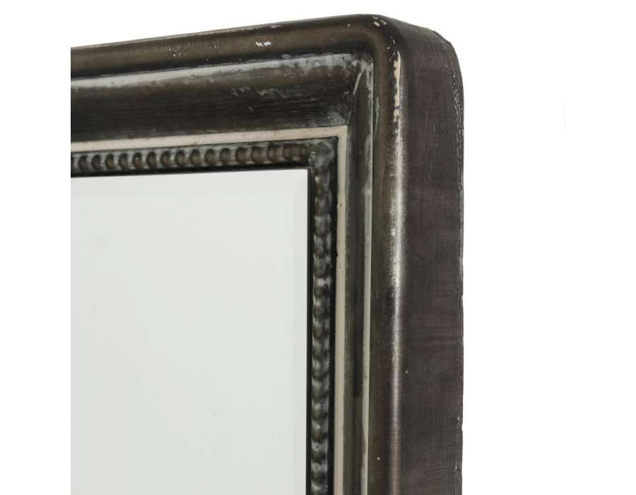 Miroir m tal gris vieilli industriel 91 cm pas cher for Miroir argente pas cher