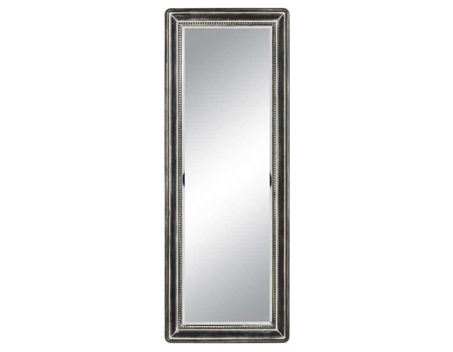 Miroir m tal gris vieilli industriel 110 cm pas cher for Miroir vieilli